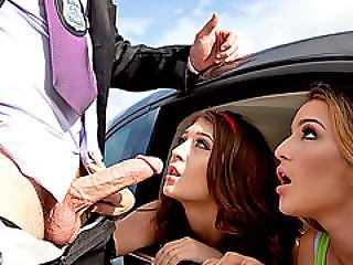 Teen Hotties Jojo Kis Sand Mila Marx Boned Outdoors By A Cop