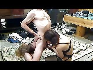 Guy Barebacks Two Dirty British Hookers