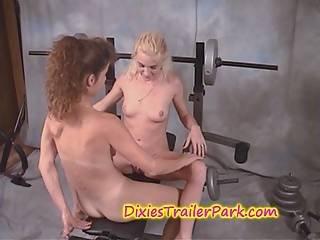 My Lesbian Neighbors In My Basement Gym