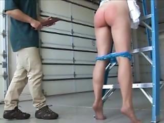 Annabelle Lee Ladder Spanking