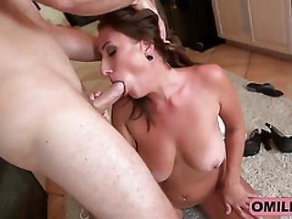 Milf Skyler Strokes Cock With Big Tits In Kitchen