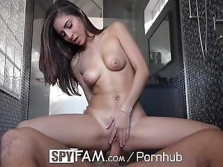 Spyfam Step Sister Nina North Watched By Step Brother In The Shower