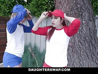 Daughterswap - Hot Lesbian Teens Get Fucked Hard By Stepdads