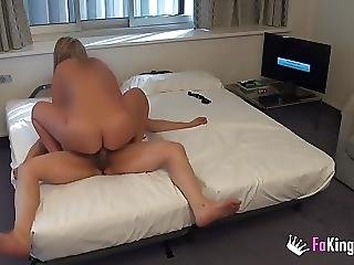 Girl With Great Tits Fucks A Horny Room Service Guy