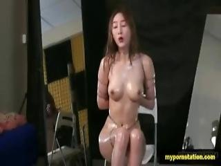 Beautiful Chinese Model Bondage Sex With Photographer
