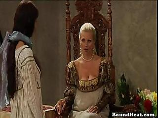 Big Titted Countess Ruling Over Her Slaves