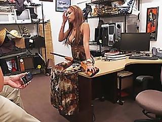 Natural Tits Latina Stripper Pawns A Shotgun And Gets Pussy A Massive Cock