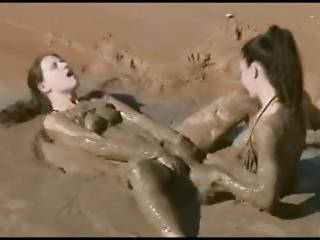 Lena And Amy Erotic And Sexual Mud