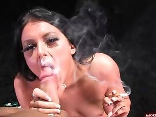 Stacey Lacey Smoking Blowjob Pt 2