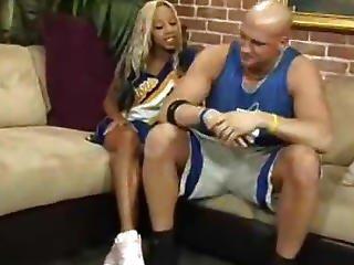 Interracial Ebony Cheerleader Scene