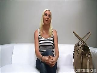 Exposed casting cum on pussy in amazing audition scene