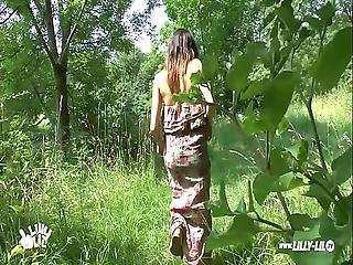 German Teen Lost Way And Gets Public Fucked In The Woods