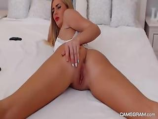 Naughty Blonde In Homemade Scene