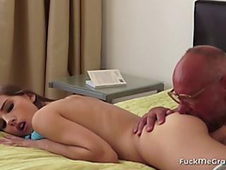 Horny Grandpa Fucks A Cute Minx