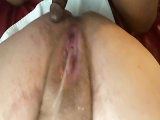 Rubbing My Sexy,fat, Hairy, Hippie Wifes Pussy With My Dick