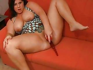 Fat Chubby Teen Cant Stop Masturbating On Her Couch