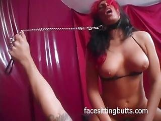 Big Titted Slut Gets Choked
