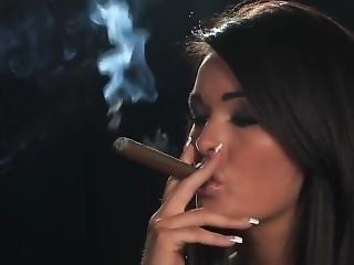 Charley Atwell Cigar Smoking