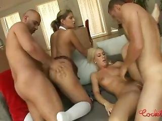 Two Big Cocks For Two Horny Blondes