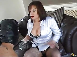 A Man Forced To Lick Her Soft Pussy