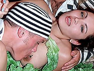 Latin Chick Team Fucked By 2 Midget Jailbirds And Dp