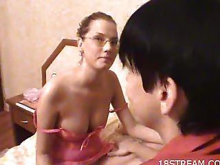 Curly Girl Undresses Her Boyfriend