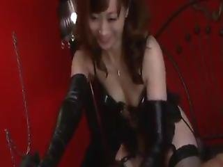 Dirty Japanese Honey Inside Latex Costume Gives The Dicklick