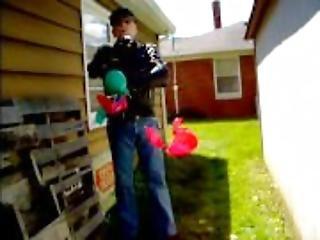 biker balloon bitch