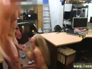 Ebony blowjob in public bathroom Blonde