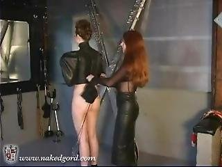 Safira In A Butterfly Leather Straitjacket 1