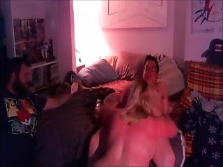 Chunky Blode Cuckolds Hubby And Facialized