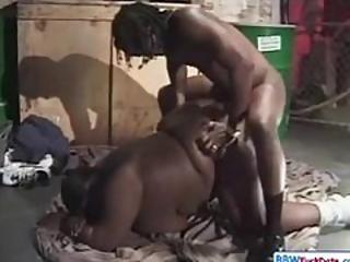 Homeless Bbw Ebony Fucks For Money
