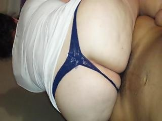 Ass, Blowjob, Brunette, Cheating, Deepthroat, Home, Homemade, Latina, Pov, Slut, Sucking, Swingers, Thong, Wet, Wife