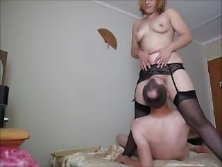 British Hooker Stocking Blonde 69