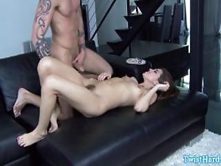 Brunette Pornstar Gets Pussy Ravaged
