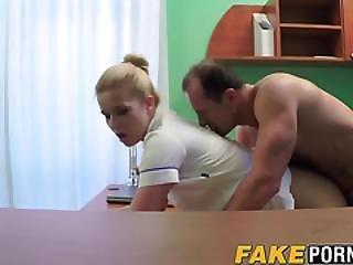 Doctor Punishes His Sexy Nurse For Slacking Off At Work