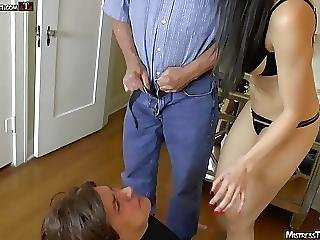 Foot licking fag gets femdom treatment from mistress tangent - 3 part 10