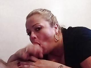 Blonde Milf Sucks Cock- Cum In Mouth