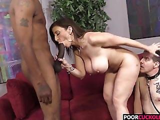 Cuckold Watching His Hotwife Sara Jay Banging With A Big Black Cock