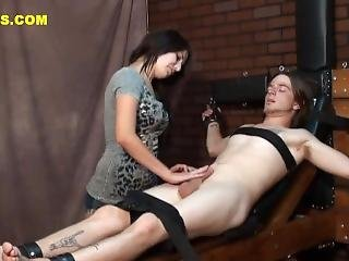 Bound Tickle Handjob