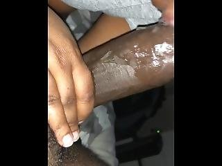 Amateur, Gross Titte, Blasen, Schwarz, Arbeitsplatz
