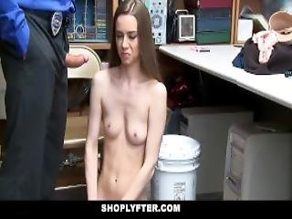 Shoplyfter Teen Thief Gets Cocked