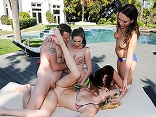 Slut Bffs Enjoy Sucking And Fucking Drone Owners Big Cock