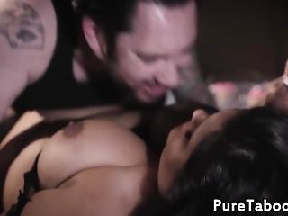 Busty Glam Babe Deepthroating Hard Cock