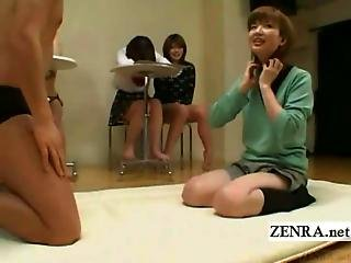 Subtitled Kinky Japanese Foreplay While Friends Watch