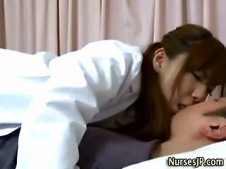 Hot Japanese Nurse Gets Hot