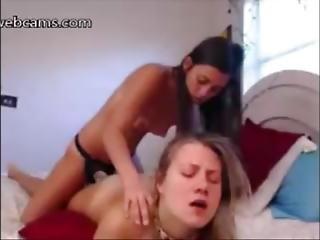 cowgirl, dildo, scopata, lesbica, adolescente lesbica, masturbazione, strapon, Adolescente, webcam