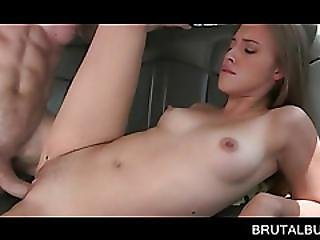 Teen Beauty Nailed To Orgasm In The Bus