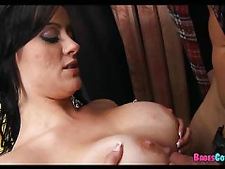 Fucking Her Boobs At The Hardware Store