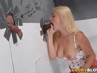 Gloryhole Blow Job And Then Creampie In Youngl Pussy